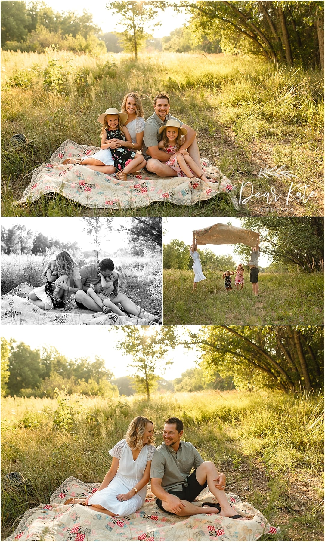 family video session along the poudre river