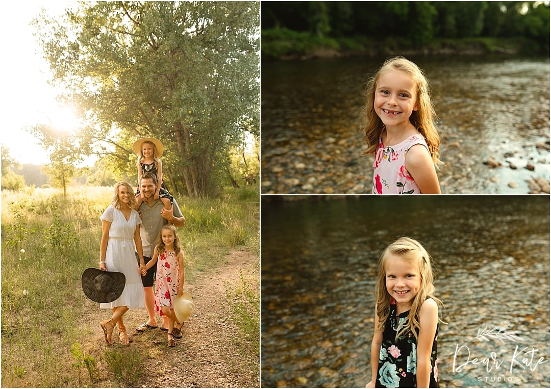 family pictures fort collins poudre river posed pictures