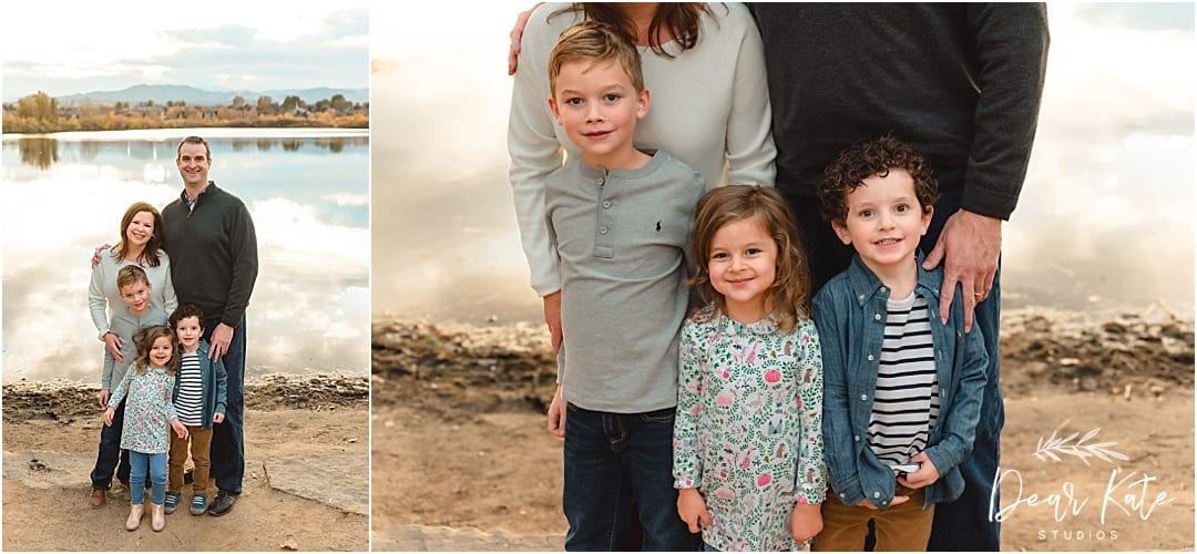 Loveland colorado family pictures by the lake