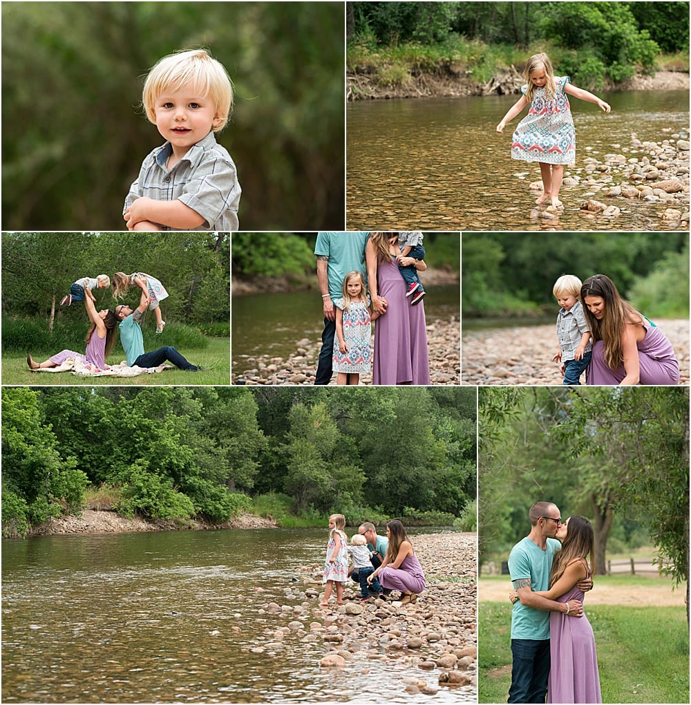 Fort Collins Family photographer river mini sessions