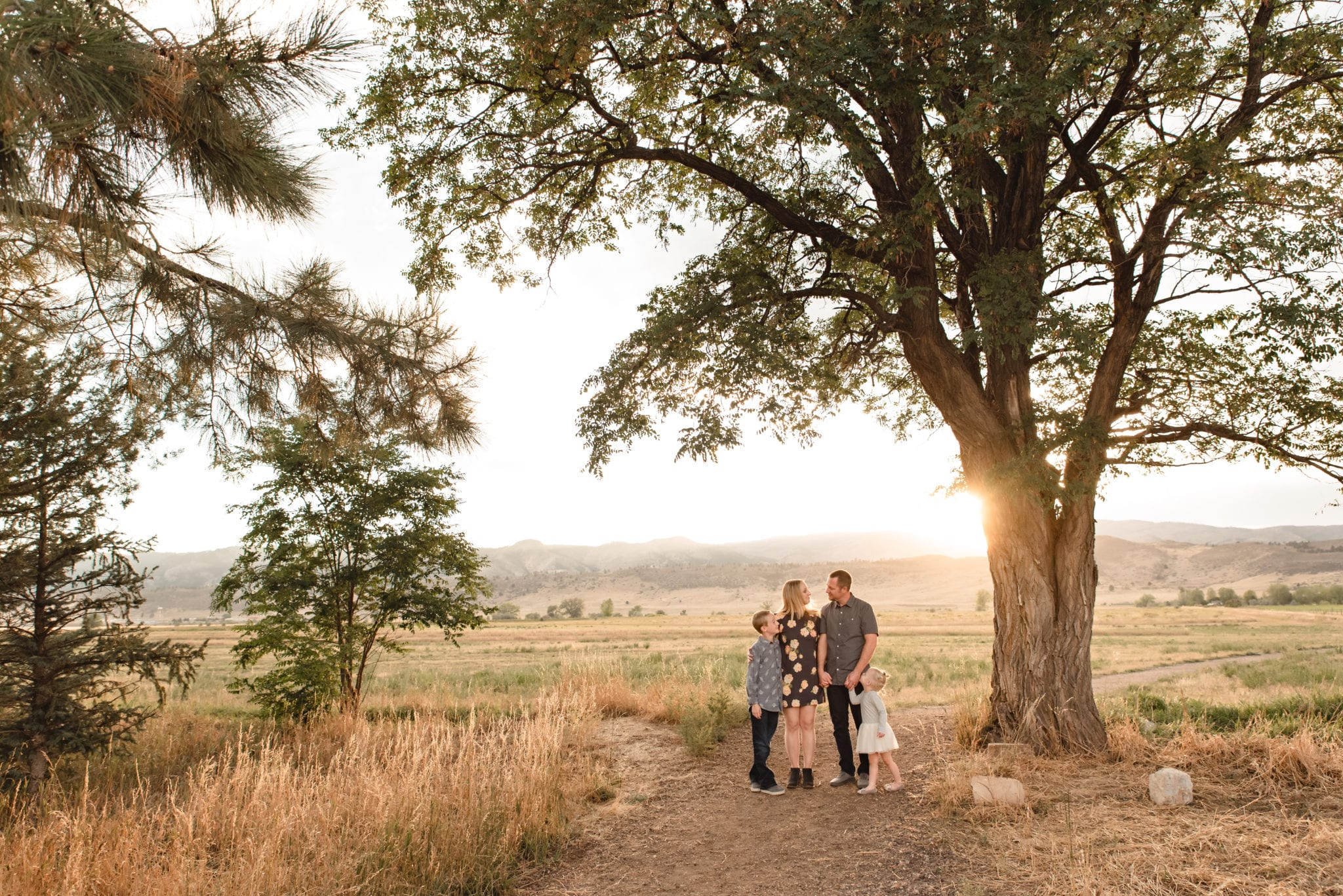 Fort Collins foothills family mini session in the mountains fall colors