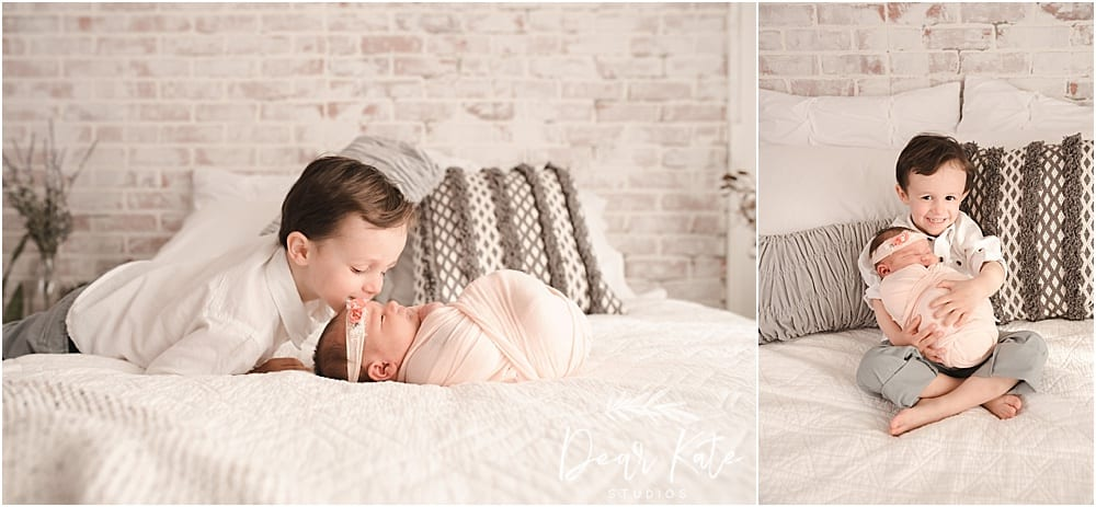 Loveland Newborn pictures baby with big brother