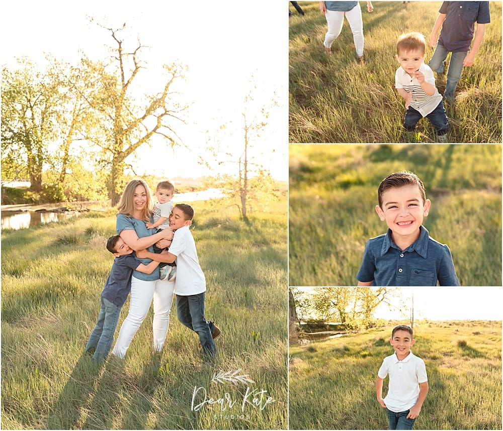 Loveland family pictures outdoors sunset