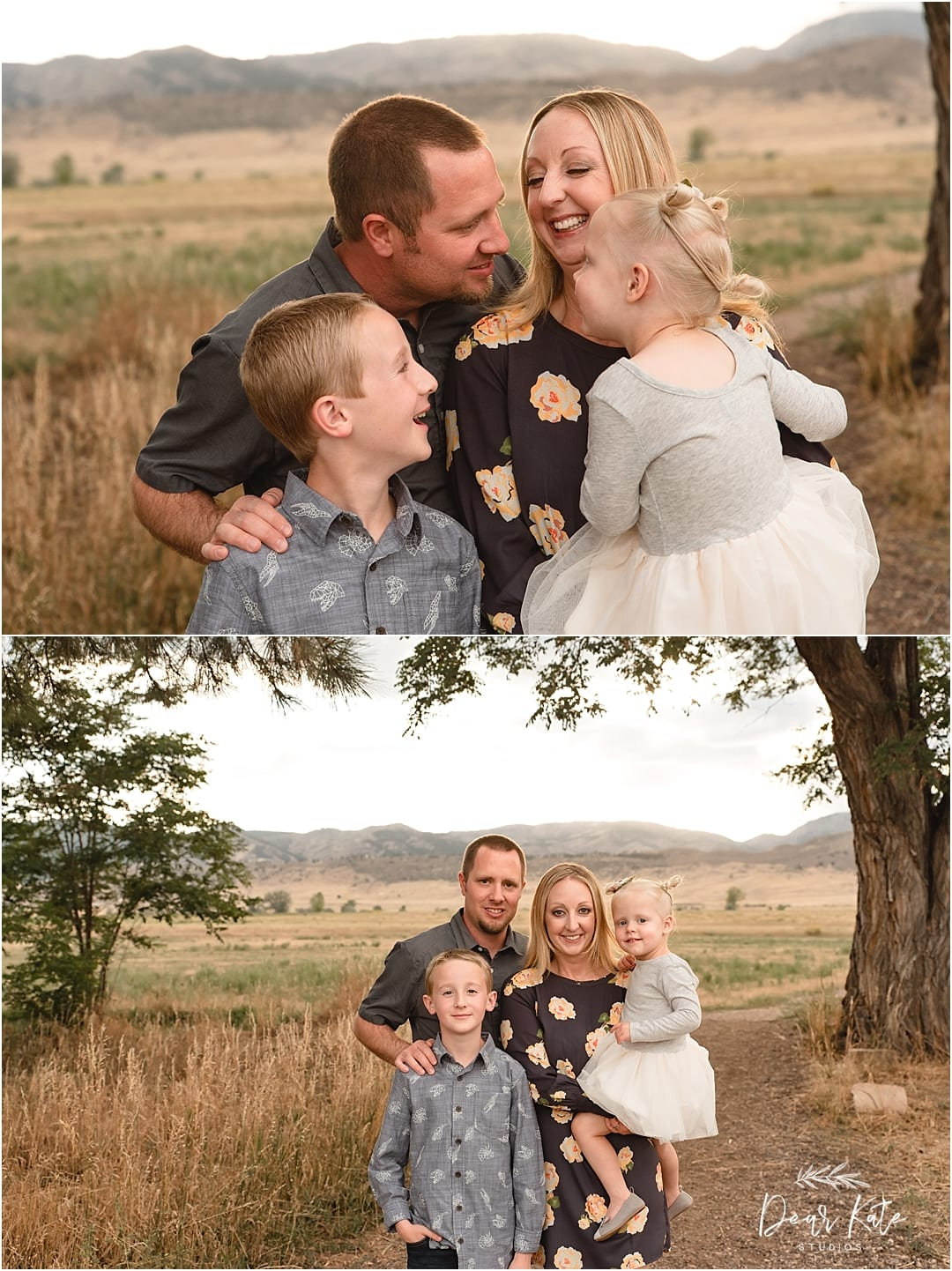 Family of four photos in fort collins